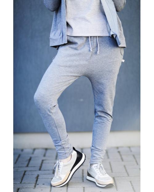 Kelnės su 3D kišenėmis (pilkos)