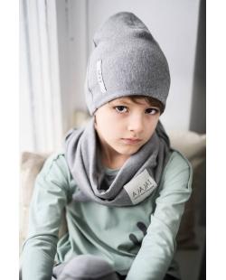 Dviguba pilka kepurė