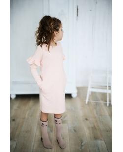 """Rožinė suknelė """"Sparnai"""""""