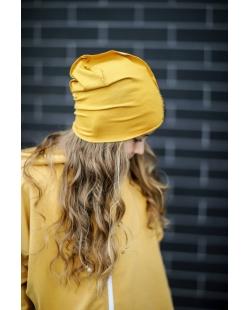 Kepurė garstyčių spalvos
