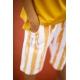 Garstyčių spalvos dryžuoti šortai