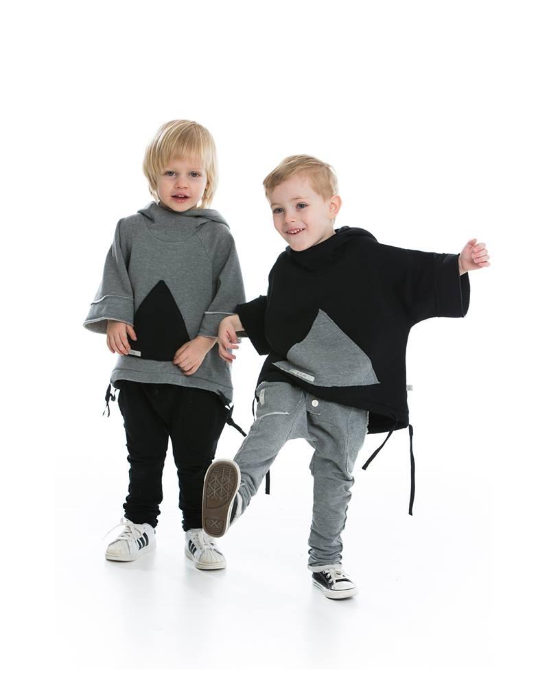 Kelnės su didelėmis kišenėmis pilkos