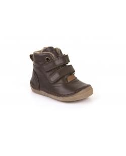 Rudi auliniai batai su kailiuku
