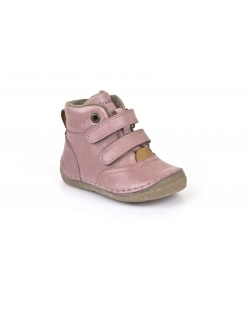 Rožiniai auliniai batai su kailiuku