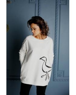 """Džemperis baltas """"Paukštis"""""""