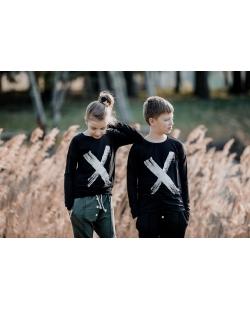 """Vaikiški marškinėliai """"X"""" juodi"""