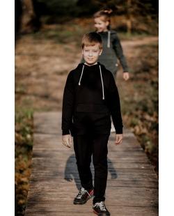 """Džemperis """"Kengūra"""" juodas"""