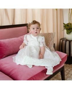 Angelo Kids balta gipiūro suknelė