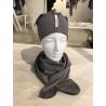 Vienguba kepurė pilka