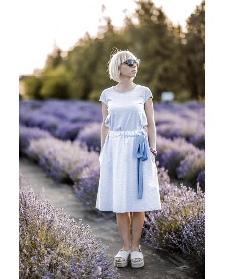 Atostogų suknelė pilka