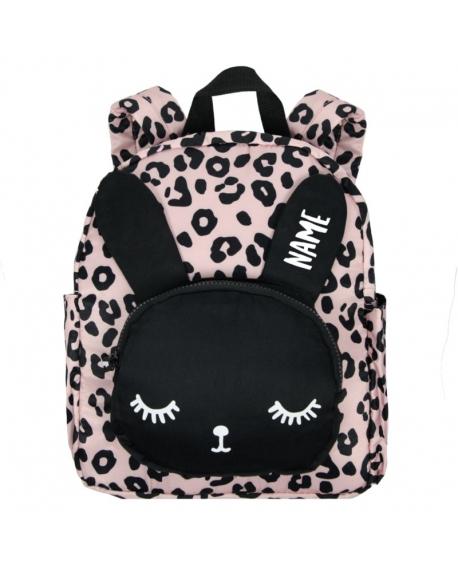 """Kuprinė su pageidaujamu vardu """"Bunny Pink Leopard Big"""""""