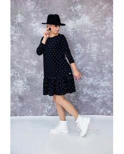 """""""Taškuota"""" suknelė juoda"""