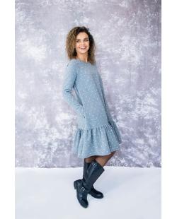 """""""Taškuota"""" suknelė pilka"""