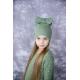 """Žalia kepurė """"Kaspinas"""""""