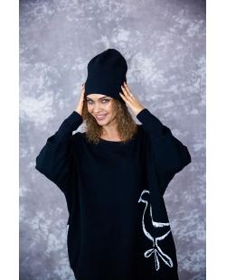 """Dviguba kepurė """"X"""" juoda"""