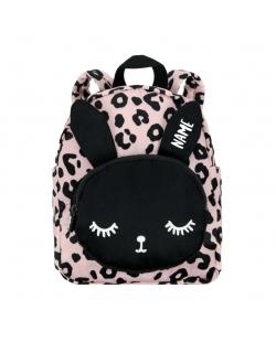 "Kuprinė maža ""Backpack Bunny Pink Leopard Personalised SMALL"""