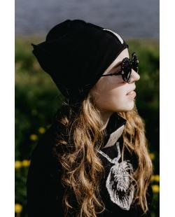 Vienguba kepurė juoda