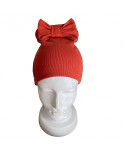 """Kepurė """"Kaspinas"""" plytų spalvos"""